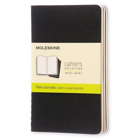 Блокнот Moleskine CAHIER JOURNAL QP313 Pocket 90x140мм обложка картон 64стр. нелинованный черный (3шт)