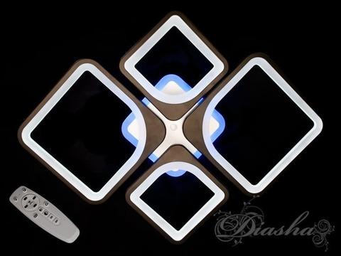 Потолочная LED-люстра с пультом, диммером и подсветкой 100W