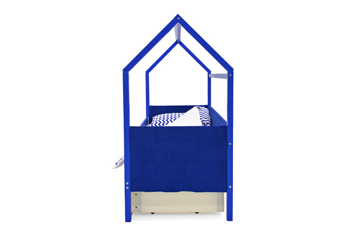 Кровать-домик мягкий «Svogen синий»