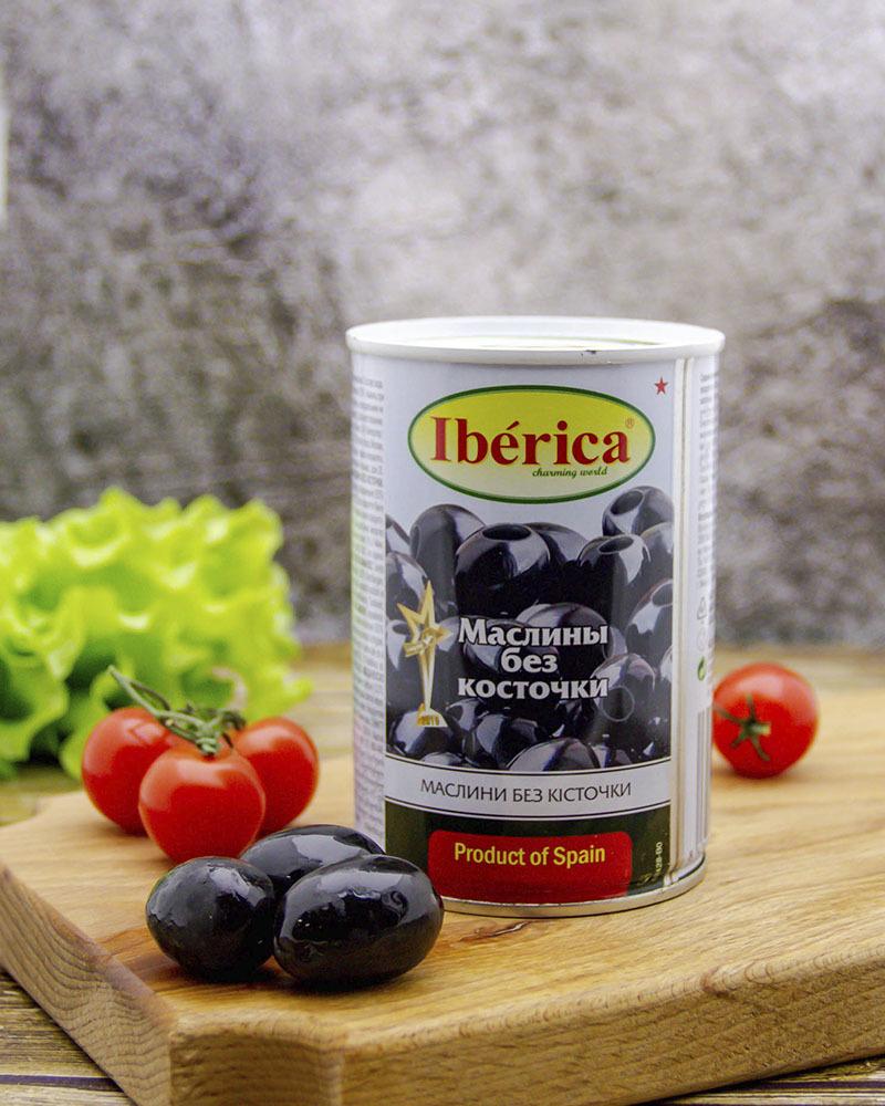 Маслины  Iberica Без Косточки 420 гр.