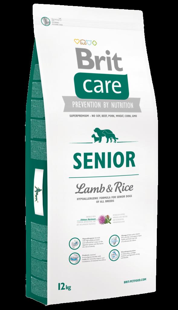 Brit Корм для пожилых собак, Brit Care Senior All Breed, с ягненком и рисом Brit-Care-Senior-Lamb-and-Rice-12kg.png