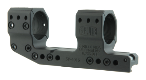 Тактический кронштейн SPUHR D34мм на Picatinny, H38мм, без наклона, с выносом (SP-4016)
