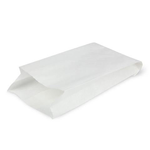 Бумажный пакет с плоским дном, 90*40*205 мм, белый