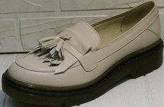 Осенние туфли женские бежевые Markos S-6 Light Beige.