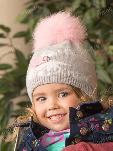 Зимняя шапка для девочки Mialt Умка ищет друга
