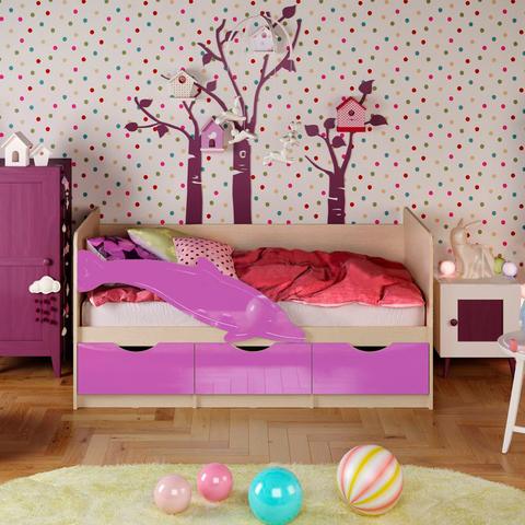 Кровать Дельфин-1 сиреневый