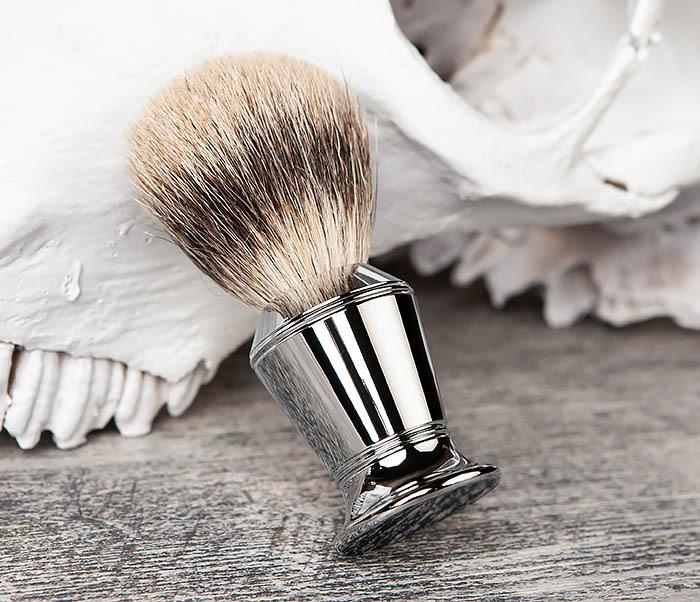 RAZ406 Помазок для бритья со стальной рукояткой