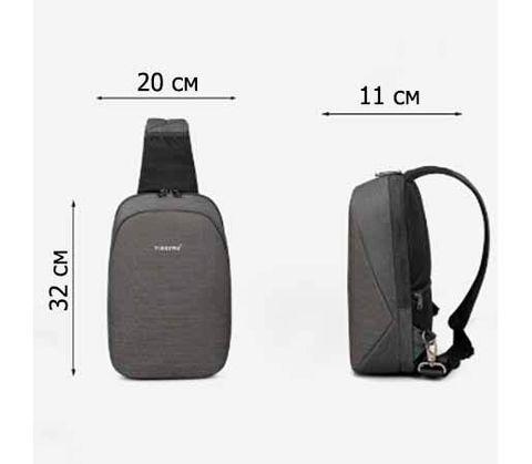 Картинка рюкзак однолямочный Tigernu T-S8061 Black - 5