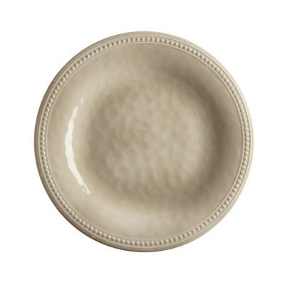 MELAMINE DESSERT PLATE, HARMONY SAND 6 UN