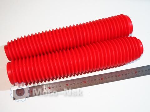Пыльники  вилки 360мм красные Honda XR 250
