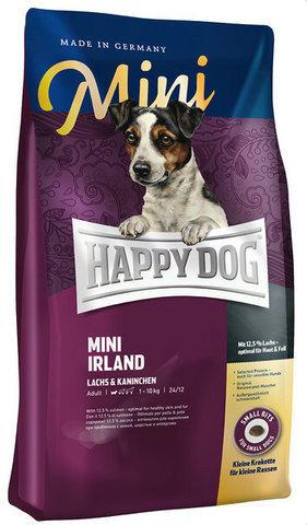 купить Happy Dog Supreme Mini Adult Irland сухой корм для собак до 10 кг, при проблемах с кожей и шерстью