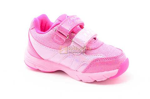 Светящиеся кроссовки для девочек Пони (My Little Pony) на липучках, цвет розовый, мигает картинка сбоку. Изображение 2 из 12.
