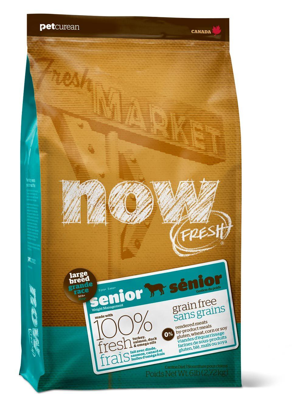 Сухой корм Беззерновой корм для пожилых собак и собак крупных пород, NOW FRESH, Контроль веса, с индейкой, уткой и овощами 2700_14.jpg