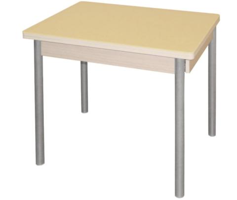 Обеденный стол со стеклом М142.84 - фото