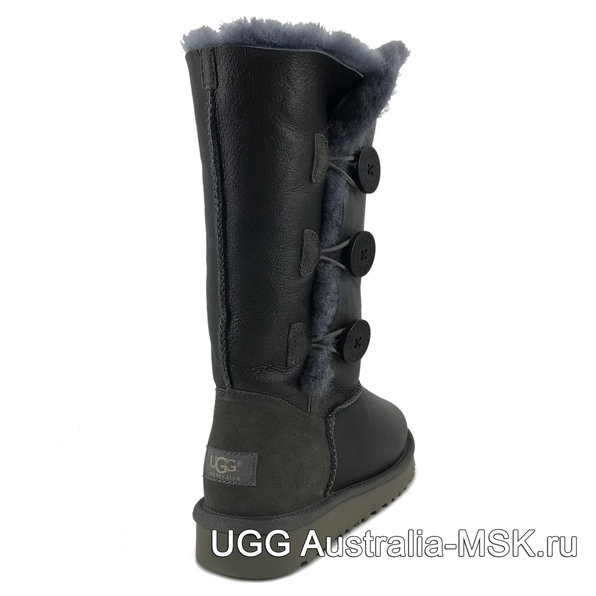 UGG Bailey Button Triplet Metallic Grey