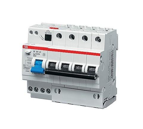 Автоматический выключатель дифференциального тока (АВДТ) DS204 AC-C6/0,03 тип AC ABB
