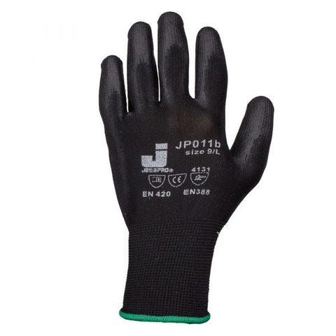 Jeta Pro Перчатки защитные с полиуретановым покрытием (черные) XL