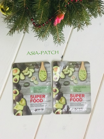 Тканевая маска для лица Авокадо Eyenlip Super Food Avocado Mask, 23 мл