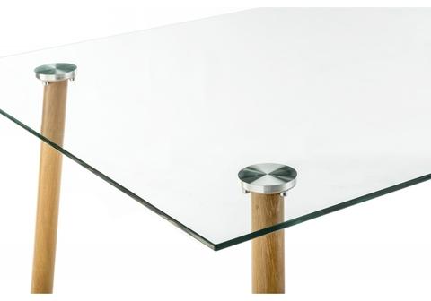 Стол стеклянный Rober wood