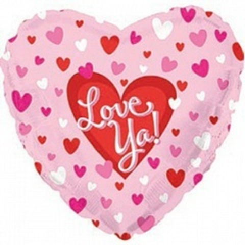 Сердце, Я люблю тебя (маленькие сердечки), Розовый, 18