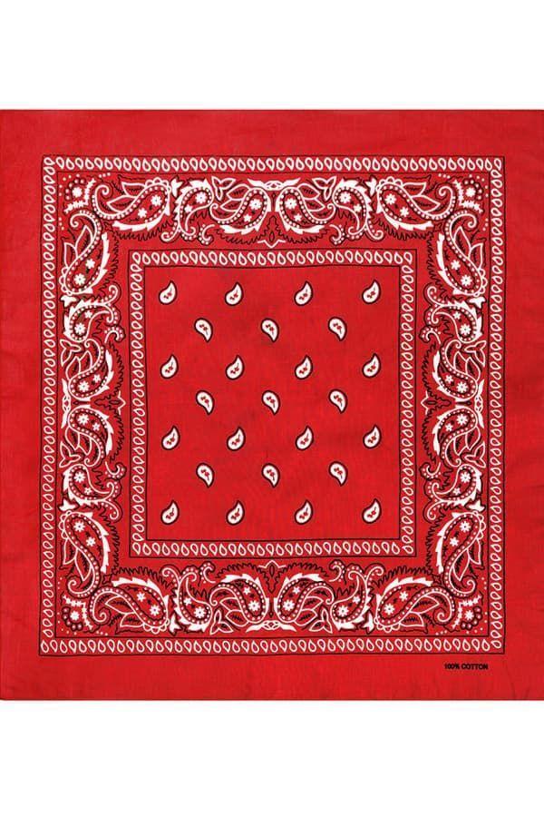 Красная бандана пейсли фото