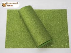 Фоамиран с блестками салатовый 2 мм