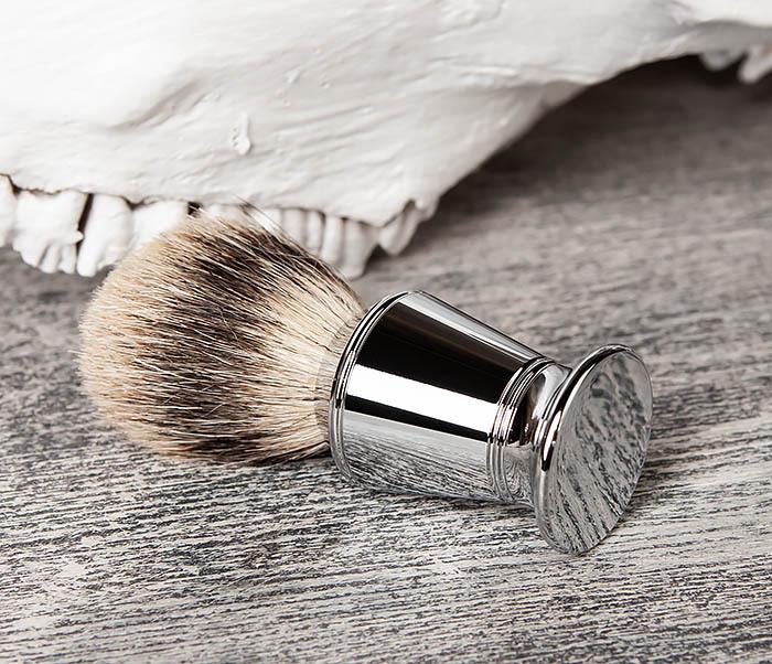 RAZ406 Помазок для бритья со стальной рукояткой фото 03