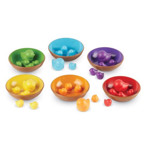 Набор для сортировки Цветные гнёздышки Learning Resources