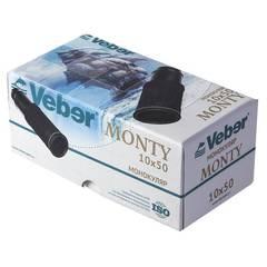 Монокуляр Veber Monty 10x50 BR черный