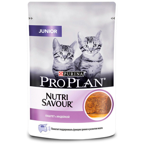 Purina Pro Plan Delicate Консервы для котят с индейкой, паштет