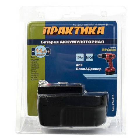 Аккумулятор для B & D ПРАКТИКА 14,4В, 1,5Ач, NiCd, блистер (774-313)