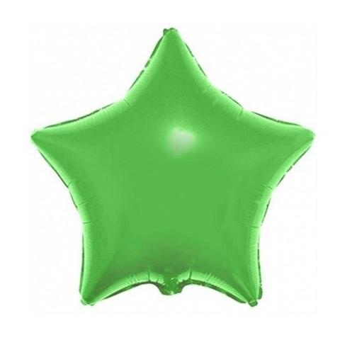 Звезда из фольги Металлик, салатовая (46 см)