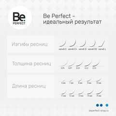 Чёрные ресницы Be Perfect Black MIX 6 линий