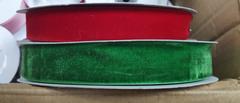 Лента декоративная БАРХАТНАЯ, 2,5 см*1 м.