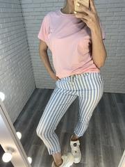 брюки в голубую полоску nadya