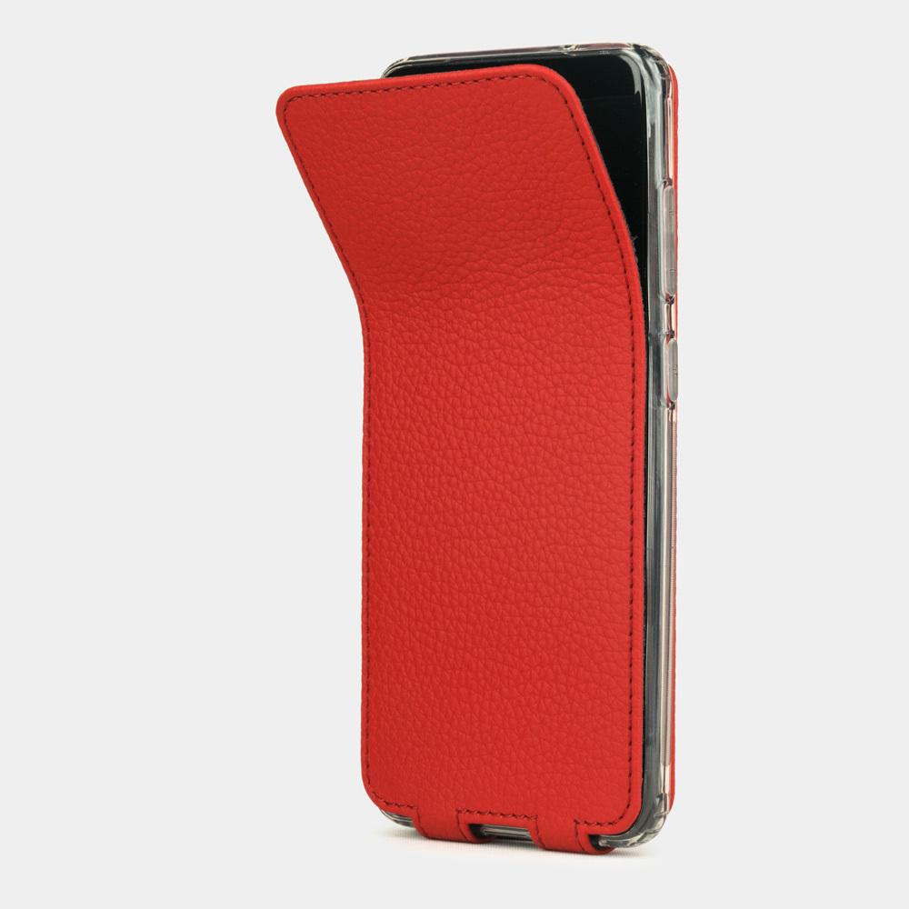 Чехол для Samsung Galaxy S20 из натуральной кожи теленка, красного цвета