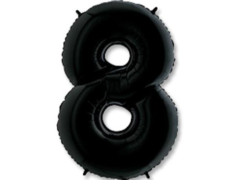 Цифра, 8, Черный (Black), 40''/102 см, 1 шт.