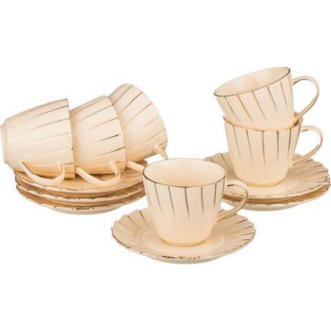 Кофейный набор из фарфора на 6 персон