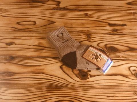 Носки детские из шерсти яка (серые) р.2 фото1