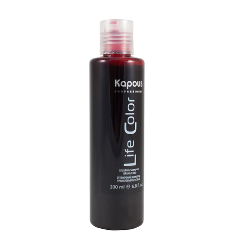 Оттеночный шампунь для волос Тёмный баклажан Life Color Kapous Professional 200 мл