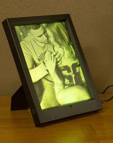 Фото-светильник в фоторамке с пультом ДУ