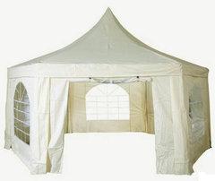 Садовый тент шатер Green Glade 1053 (6 граней)  (Комплект из 2-х коробок)