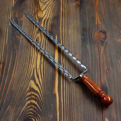 Шампур для курицы с деревянной ручкой, 45см