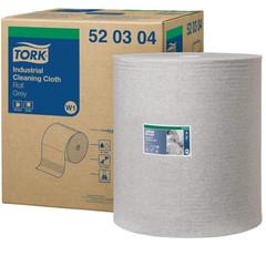 Нетканый протирочный материал Tork 520304 W1/W2/W3 серый (361 метр в рулоне)