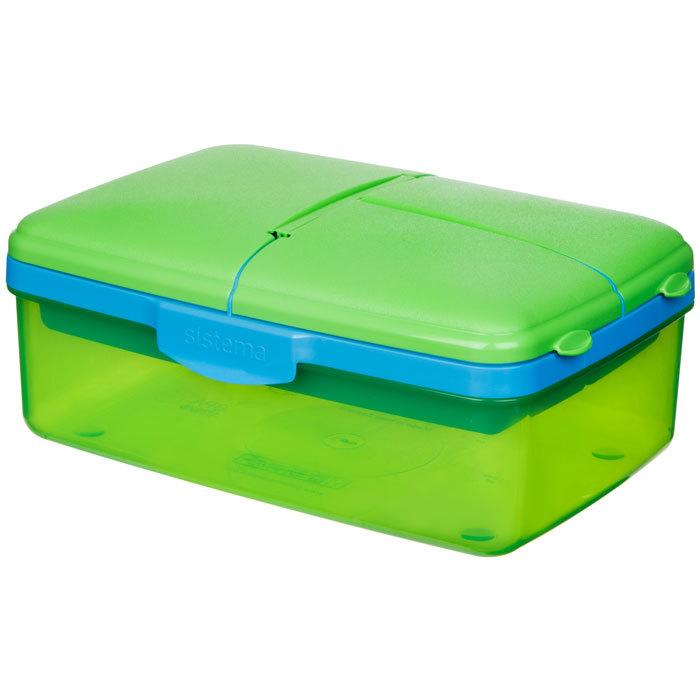 """Ланч-бокс с бутылкой Sistema """"Lunch"""", 4 секции, 1,5 л, цвет Зеленый"""