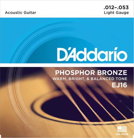 D'ADDARIO EJ16-3D 3-PACK PHOSPHOR BRONZE LIGHT Струны для акустической гитары