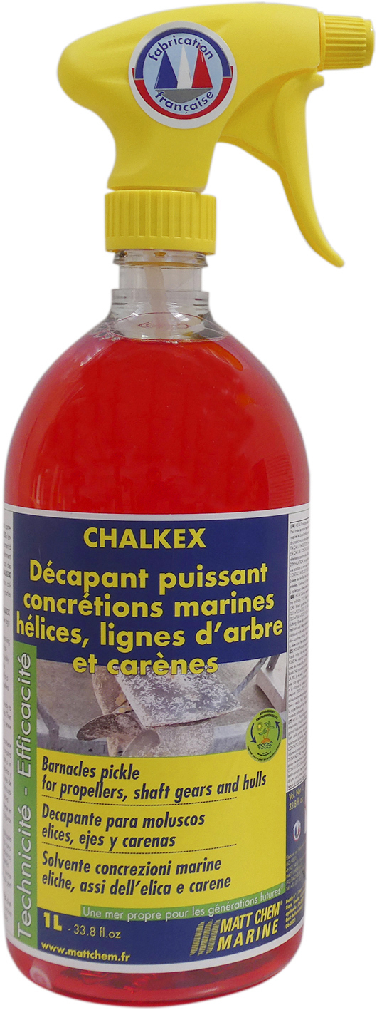 Acid pickle for propellers, shaft gears and hulls for barnacles Chalkex