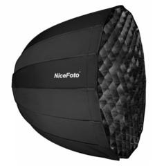 Складной параболический октобокс с сотами 120 см NiceFoto