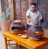 Дровяная печь для пиццы Калабрия малая
