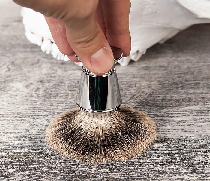 RAZ406 Помазок для бритья со стальной рукояткой фото 05